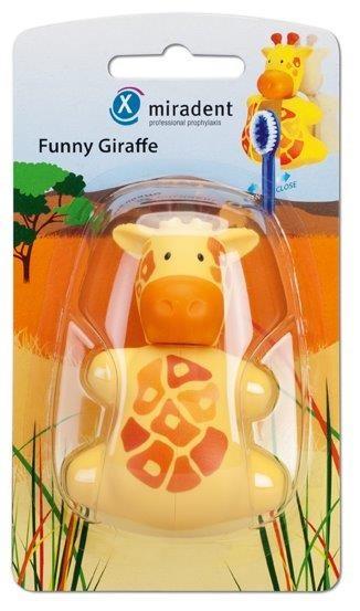 Miradent Funny Giraffe Zahnbürstenhalter für Kinder