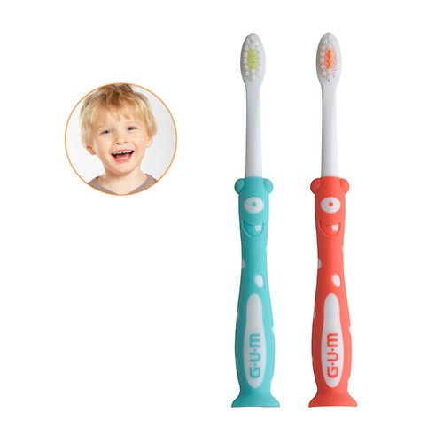 GUM® Kids Monster Zahnbürste 2-6 Jahre (cellophaniert)