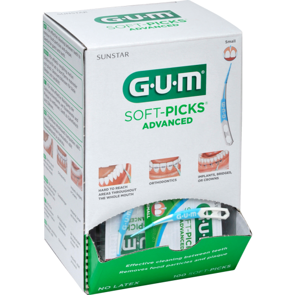 GUM SOFT PICKS Advanced Small 100 Stück