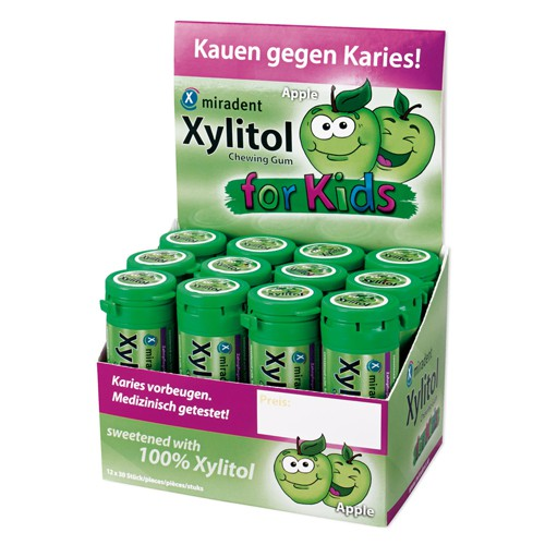 Xylitol Chewing Gum for Kids, Display 12 Dosen